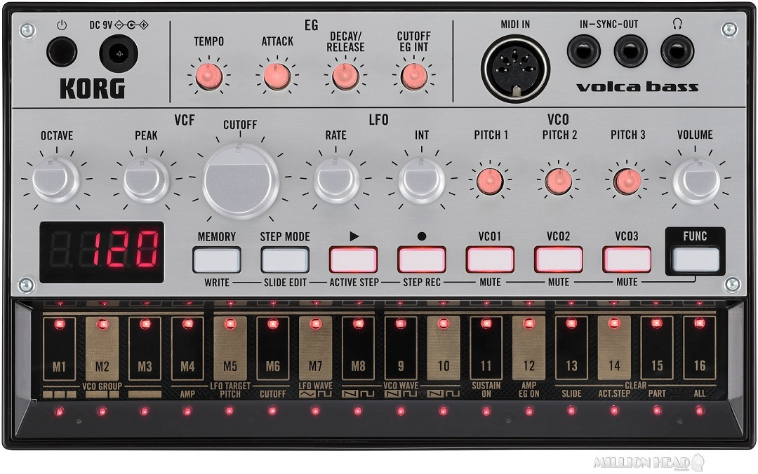 Korg : Volca Bass Analog Bass Synth Module and Sequencer by